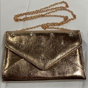 Handbags - ROSE GOLD Clutch / Crossbody Envelope Style Bag!